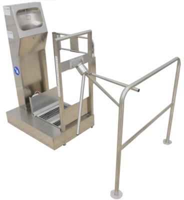 Lavasuole pneumatico controllo accessi in acciaio inox 926 AU bidirezionale