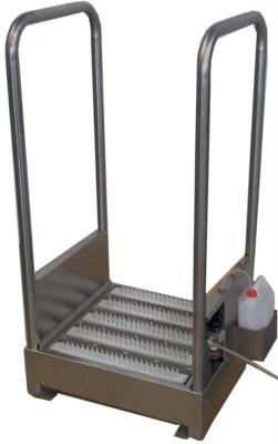 corridoio statico lavasuole pulisci suole senza acqua con nebulizzazione disinfettante 921 B123